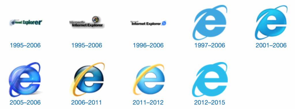 Histoire des logos d'Internet Explorer